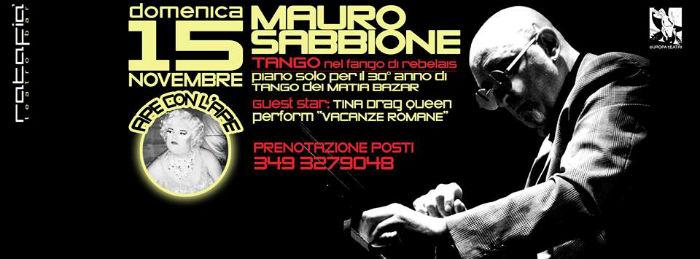 # CHESSSIFAPARMA – MAURO SABBIONE @ RATAFIA' TEATROBAR