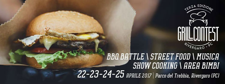 GRILL CONTEST 22 25 APRILE 2017 RIVERGARO PC Festivalozzi Primaverili