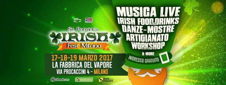 IRISH FEST 17 19 MARZO 2017 LA FABBRICA DEL VAPORE MILANO Festivalozzi Primaverili