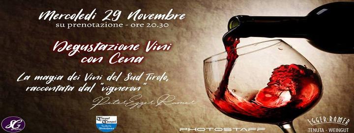 Degustazione Vini del Sud Tirolo con Cena Eventi, serate..robe