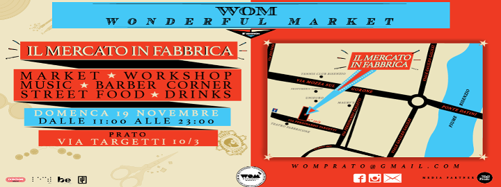 WOM Wonderful Market Il Mercato in Fabbrica Eventi, serate..robe