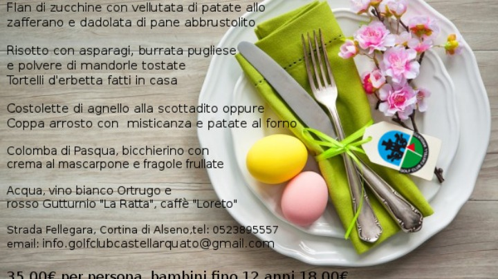 Pranzo di Pasqua e Pasquetta 2018