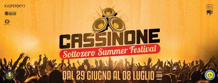 Cassinone Sottozero Summer Festival 2018 1 Eventi, serate..robe
