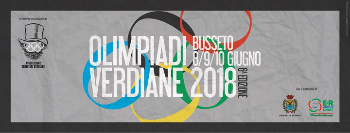 Olimpiadi Verdiane 2018 Eventi, serate..robe