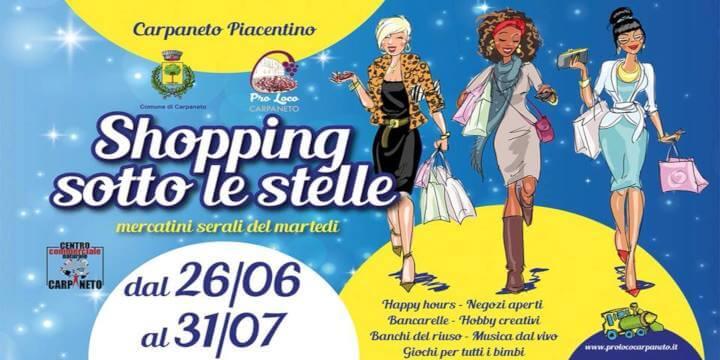 Shopping Sotto le Stelle 20181 Eventi, serate..robe