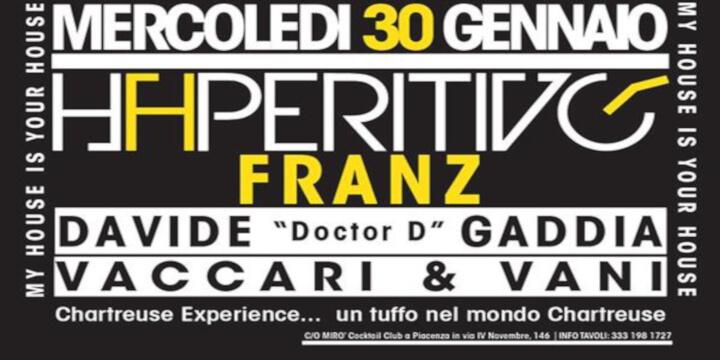 """Haperitivo con la musica di Franz e Davide """"Doctor D"""" Gaddia"""