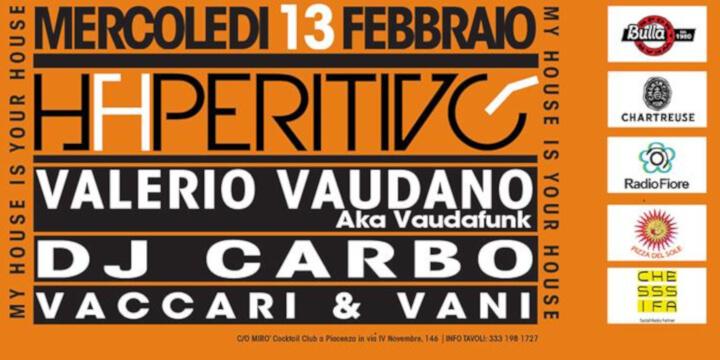 Haperitivo con la musica di Valerio Vaudano e Dj Carbo