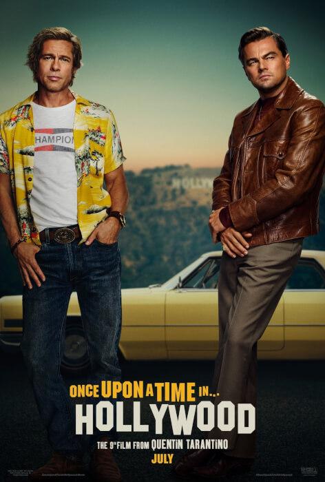 Brad Pitt e Leonardo DiCaprio nel poster del film di Quentin Tarantino 1 Brad Pitt e Leonardo DiCaprio nel poster del film di Quentin Tarantino