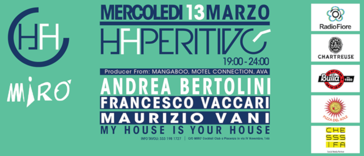 Haperitivo con la musica di Andrea Bertolini Dj