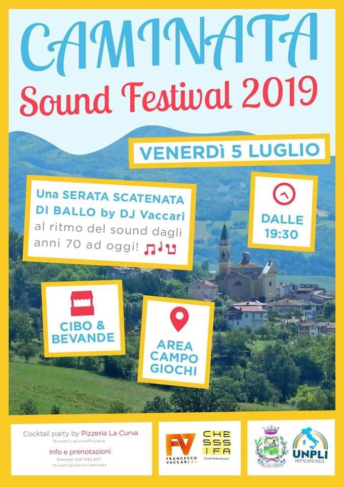 locandina caminata sound festival 2019