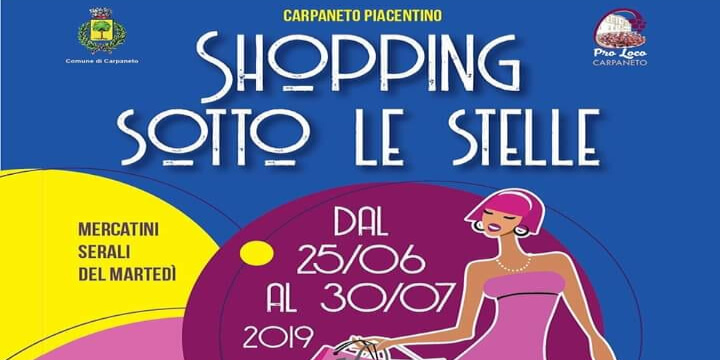 Shopping sotto le stelle 2019 Eventi, serate..robe