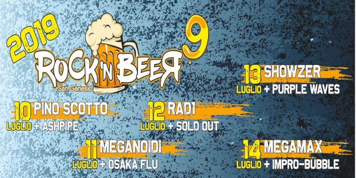 Rock'N Beer 9 Eventi, serate..robe