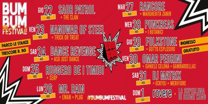 Bum Bum Festival 2019 Eventi, serate..robe