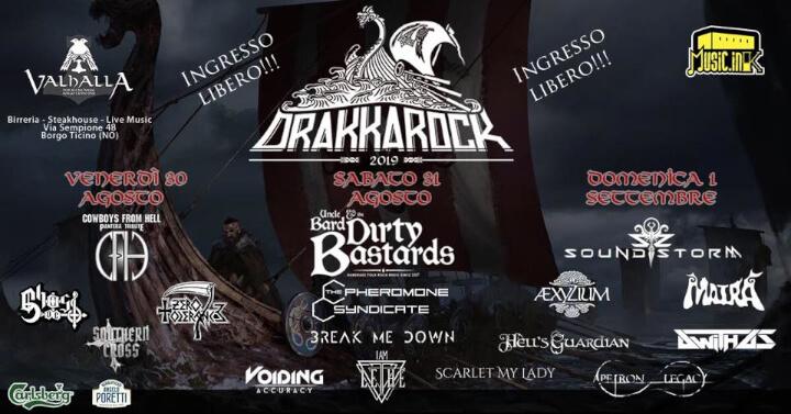Drakkarock 2019 Eventi, serate..robe