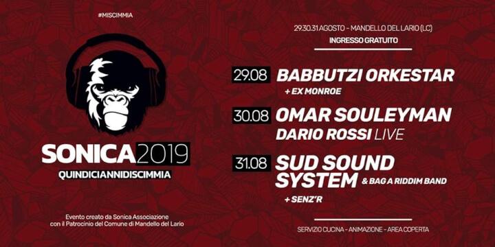 Sonica Festival 2019 Eventi, serate..robe