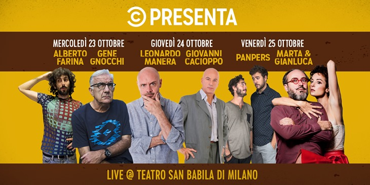 Comedy Central Presenta Eventi, serate..robe