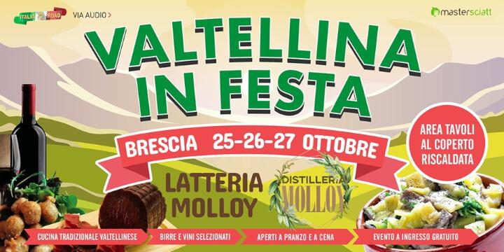 Valtellina in Festa 2019 Brescia Eventi, serate..robe