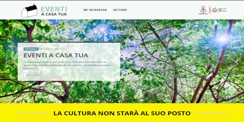Screenshot 2020 05 27 Eventi a casa tua Eventi a Reggio Emilia1 #gioca a #SaveTheCulture