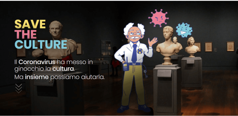 Screenshot 2020 05 27 Save The Culture1 #CulturaItaliaOnline