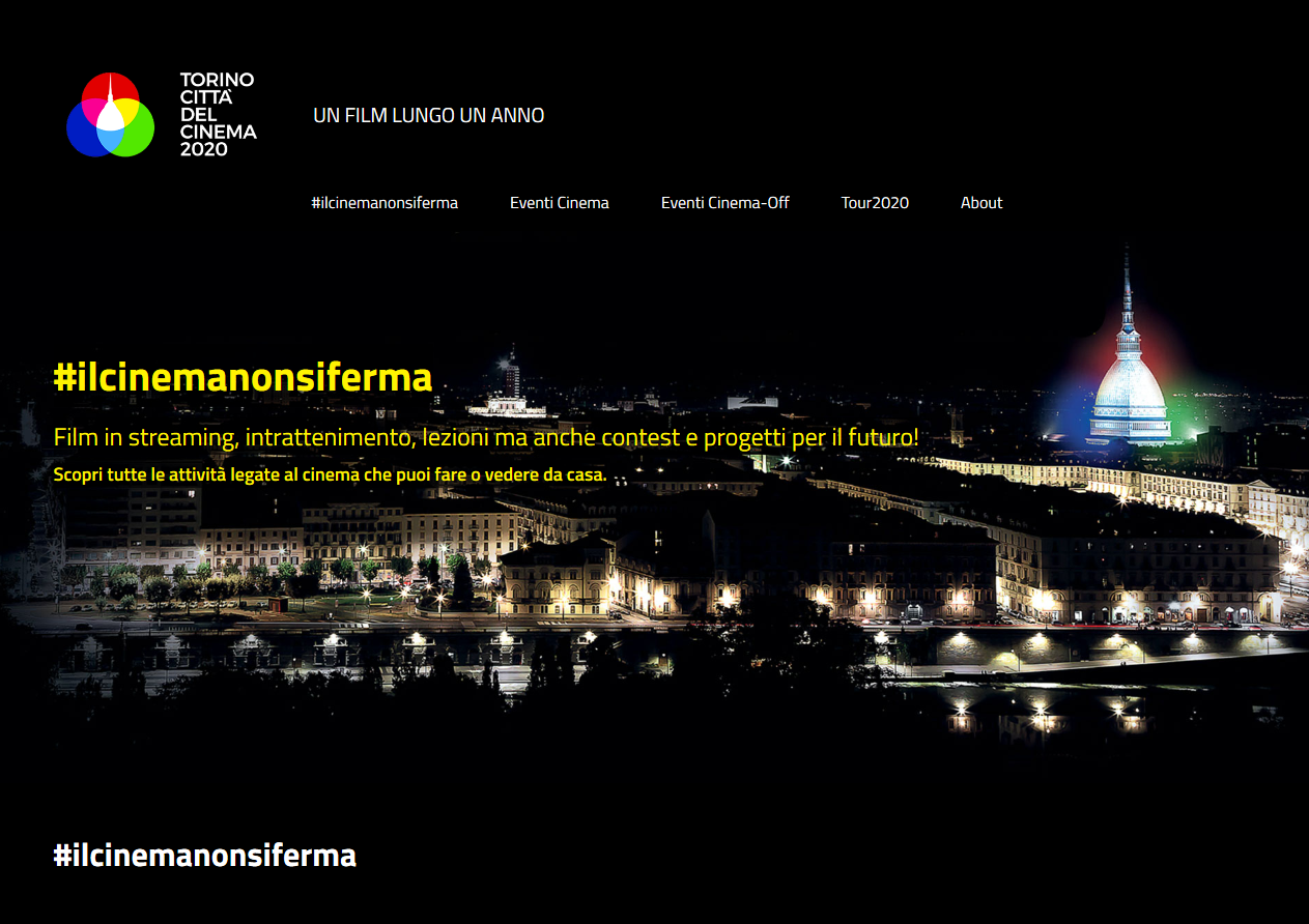 Screenshot 2020 05 27 TORINO CITTÀ DEL CINEMA 2020 TORINO CITTÀ DEL CINEMA 2020 Estate Italiana