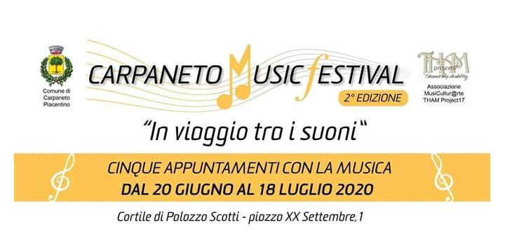 Carpaneto Music Festival 2020 seconda edizione HOME