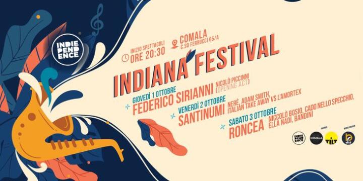 Indiana Festival 2020 Torino Eventi, serate..robe