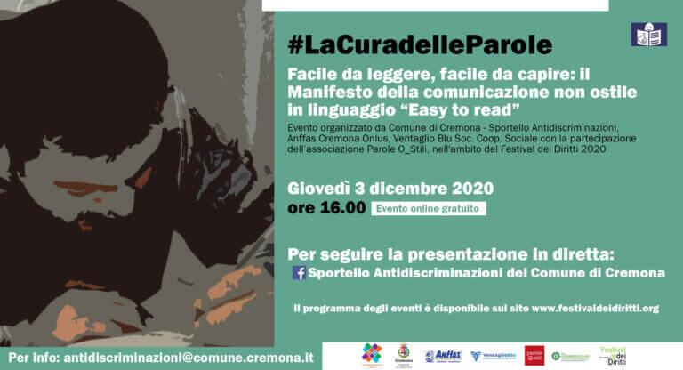 Locandina Manifesto comunicazione non ostile in easy to read 768x416 1 Eventi, serate..robe