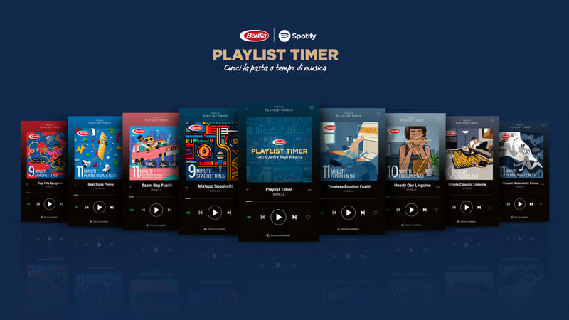 Barilla Playlist Timer key visual 1 1 Eventi, serate..robe